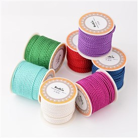 Braided Nylon Thread, DIY Material for Jewelry Making, 3mm; about 8m/roll