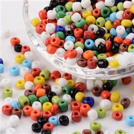 Glass Seed Beads, Opaque Colours Seed, Small Craft Beads for DIY Jewelry Making, Round