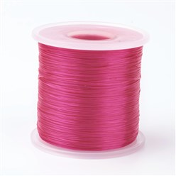Camellia Japanese Flat Elastic Crystal String, Elastic Beading Thread, for Stretch Bracelet Making, Camellia, 0.5mm; about 300m/roll