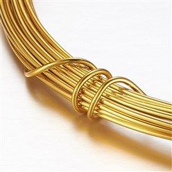 Gold Aluminum Wire, Gold, 2mm, about 5m/roll