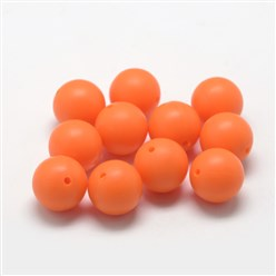 DarkOrange Food Grade Environmental Silicone Beads, Chewing Beads For Teethers, DIY Nursing Necklaces Making, Bowknot, DarkOrange, 21x29x10.5mm, Hole: 2mm