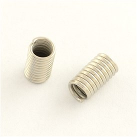 Iron Spring Beads, Coil Beads, 8x4.5mm, Hole: 3mm; about 595pcs/1000g
