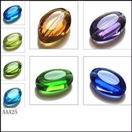 Imitation Austrian Crystal Beads, Grade AAA, Faceted, Oval