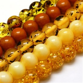 Buddhist Jewelry Beaded Findings Resin Round Bead Strands