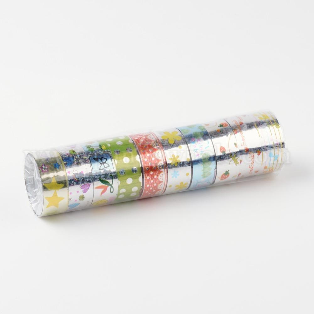 vente en gros laser papier de scrapbooking bricolage rubans adh sifs d coratifs 15 mm environ. Black Bedroom Furniture Sets. Home Design Ideas