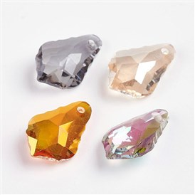 Faceted K9 Glass Charms, Imitation Austrian Crystal, Drop