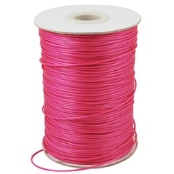 DeepPink Korean Waxed Polyester Cord, Bead Cord, DeepPink, 0.8mm; about 185yards/roll