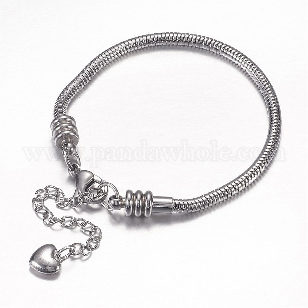 wholesale 304 stainless steel european snake chains