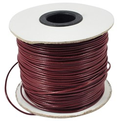 DarkRed Korean Waxed Polyester Cord, Bead Cord, DarkRed, 0.8mm; about 185yards/roll