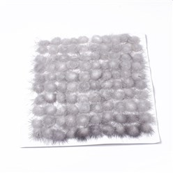 Gainsboro Faux Mink Fur Ball Decoration, Pom Pom Ball, For DIY Craft, Gainsboro, 2~2.5cm; about 100pcs/board
