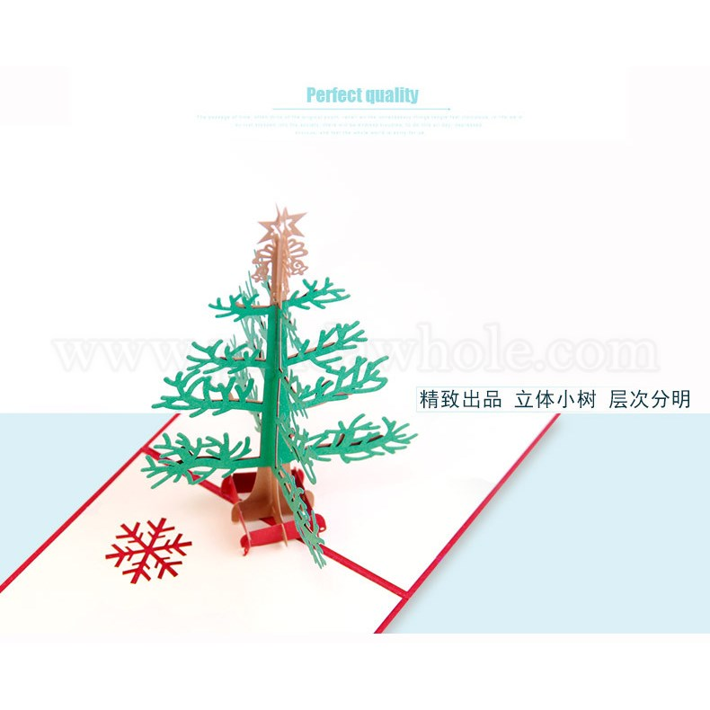 Wholesale Greeting Cards, 3D Pop Up Christmas Tree, Paper Crafts ...
