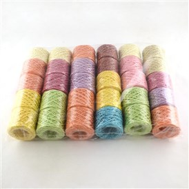 Column Colorful Raffia Ribbon, Paper String Ribbon for DIY Jewelry, 2mm; 50m/roll; 30rolls/bag