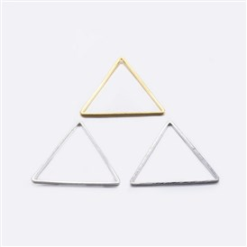 Brass Linking Rings, Plated, Triangle