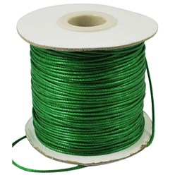 Green Korean Waxed Polyester Cord, Bead Cord, Green, 0.8mm; about 185yards/roll
