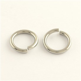 304 Stainless Steel Close but Unsoldered Jump Rings