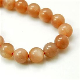 Natural Sunstone Beads Strands, Grade A, Round, Chocolate