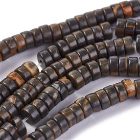 Natural Picture Jasper Beads Strands, Heishi Beads, Flat Round/Disc