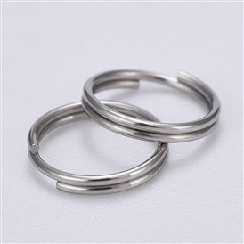 304 Stainless Steel Split Rings, 8x0.6mm; about 200pcs/bag