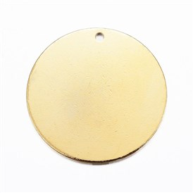 304 Stainless Steel Pendants, Flat Round