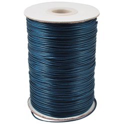 MarineBlue Korean Waxed Polyester Cord, Bead Cord, MarineBlue, 0.8mm; about 185yards/roll