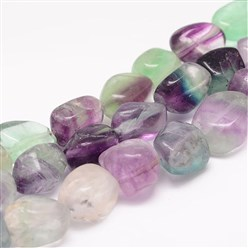 Fluorite Natural Rainbow Fluorite Bead Strands, Nuggets, 18~25x16~18x12~16mm, Hole: 2mm; about 22~25pcs/strand, 15.75""