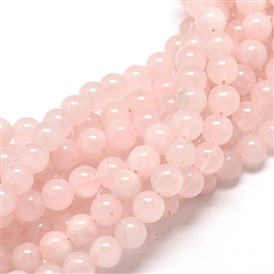 Natural Rose Quartz Round Bead Strands