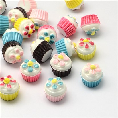 Resin Cabochons, Imitation Food, Cup Cake-1