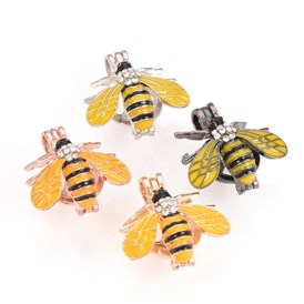 Alloy Enamel Diffuser Locket Pendants, Cage Pendants, Bee