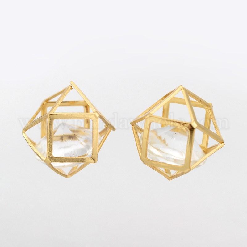 vente en gros poly dre creux pendentifs de fer avec des perles de verre l 39 int rieur 20mm en. Black Bedroom Furniture Sets. Home Design Ideas