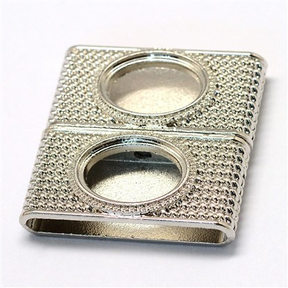 Alloy Magnetic Clasps Cabochon Settings, Rectangle-1