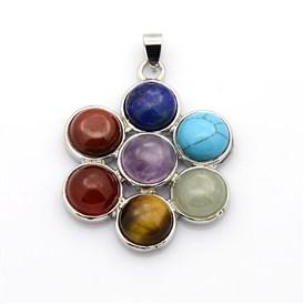 5 Pcs Brass Gemstone Shell Pendants Charms For Jewellery Making 40~45x25~30x10mm