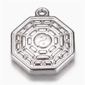 304 Stainless Steel Pendants, Chinese Eight Diagram