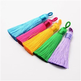 Polyester Tassel Big Pendant Decorations, Ice Silk Tassel