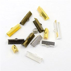 Iron Ribbon Ends, Mixed Style, 7~8x6~25mm, Hole: 1~2x3mm