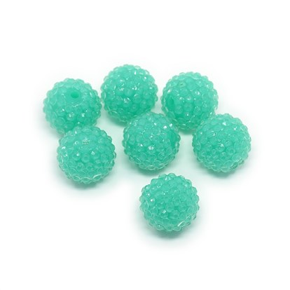 Chunky Resin Rhinestone Bubblegum Ball Beads, Transparent Style, Round, Hole: about 2.5mm-1
