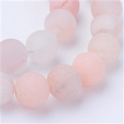 Pink Aventurine Natural Pink Aventurine Beads Strands, Frosted, Round, 10~10.5mm, Hole: 1.2mm; about 36pcs/strand, 15.5""