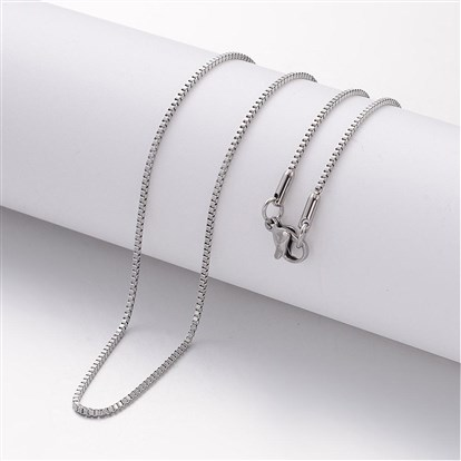 304 Stainless Steel Necklace Making, Box Chains, with Lobster Clasps-1