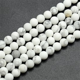 Frosted Howlite Round Bead Strands