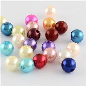 ABS Plastic Imitation Pearl Round Beads