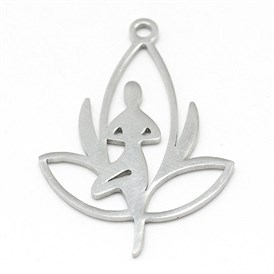 304 Stainless Steel Pendants, Yoga
