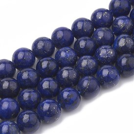 Natural Lapis Lazuli Beads Strands, Dyed, Round