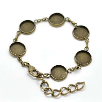 Brass Bracelet Makings, 190mm-1