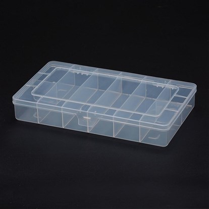 Polypropylene Plastic Bead Storage Containers, 8 Compartments, Rectangle-1