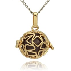 DarkSlateBlue Golden Tone Brass Hollow Round Cage Mexican Ball Pendants, with No Hole Spray Painted Brass Ball Beads, DarkSlateBlue, 23x24x18mm, Hole: 3x8mm