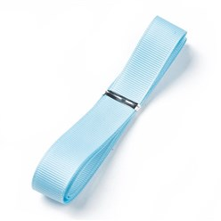 "Aqua Grosgrain Ribbons, Polyester Ribbons, Blue Series, Aqua, 5/8""(16mm); about 1yard/strand(0.9144m/strand)"