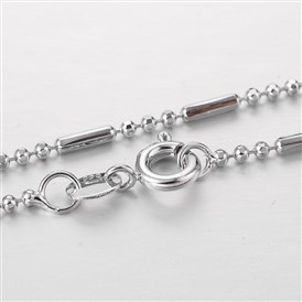 "Stainless Steel Chain Necklaces, with Spring Ring Clasps, 17.9""(45.7cm); 1.5mm"