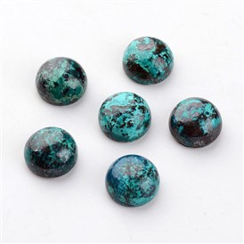 Natural Chrysocolla Cabochons, Half Round/Dome, 10x5mm