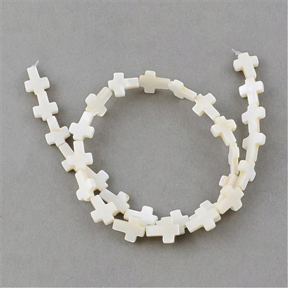 Sea Shell Beads Strands, Cross-1