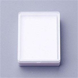 Plastic Jewelry Boxes, with Sponge, Rectangle