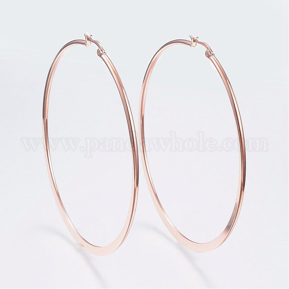 Wholesale 304 Stainless Steel Hoop Earrings In Bulk